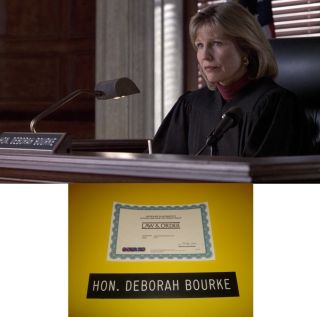 Law Order Donna Hanover Judge Deborah Bourke Screen Used Nameplate