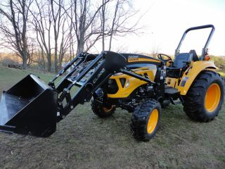 CADET YANMAR 49 HP 4X4 COMPACT TRACTOR LOADER DUAL REMOTES AUX VALVE