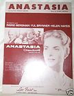 Ingrid Bergman, Yul Brynner 1956 movie sheet music  Anastasia