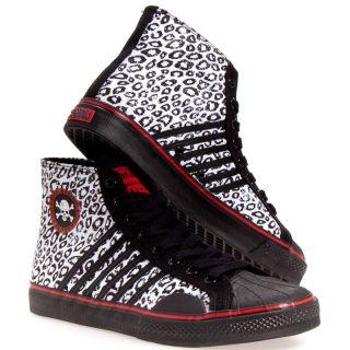 Draven Mens Duane Peters Leopard Canvas Casual Casual Shoes