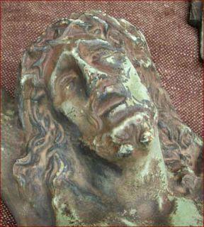 Antique Large French Crucifix Solid Bronze Dubois 1880