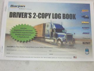 009 2 Barjan Truck Drivers 2 Copy Log Book 31 Duplicate Sets Summary