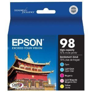 Epson 98 Extra High Capacity 5 pack color cartridges T098920 GREAT