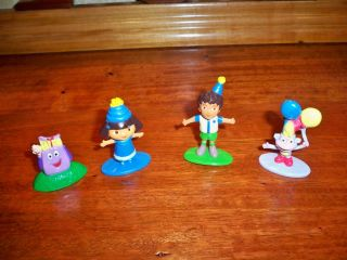 Dora Candy Land Game Replacements 4 Character Pawns Dora Diego Boots