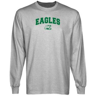 Eastern Michigan Eagles Ash Logo Arch Long Sleeve T Shirt