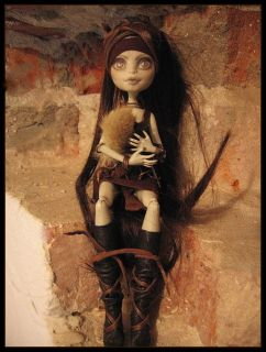 Xena OOAK Monster High Custom Doll Repaint Reroot Dressed Up by MSD