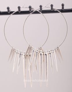 3pairs Acrylic Spike Charms Basketball Wives Earrings You Chose Color