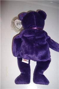 Ty Beanie Baby Princess 1997 Original Ear Tag & Tush Tag Purple