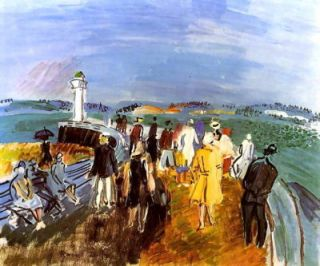 12x9 Print French art RAOUL DUFY Seascape HARBOR Pier Honfl