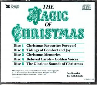 The Magic of Christmas 5 CD Best Songs Choral Easy Listening