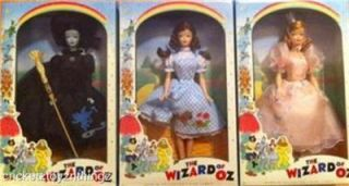 New The Wizard of oz Barbie Dorothy Wicked Witch Glinda Retro RARE 3