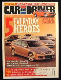Car and Driver Magazine February 2006 Mercedes S550