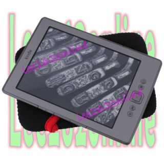 black portable sleeve case cover for ebook reader  Kindle 4