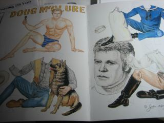 John Axe Male Paper Doll Doug McClure 1989