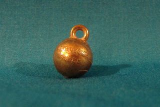 Vintage 1940 50's Duquesne University Dukes Metal Basketball Charm