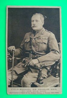 Field Marshal Sir Douglas Haig British Hero Postcard RARE
