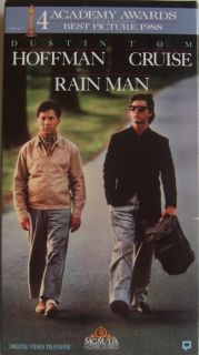 1988 Rain Man VHS Movie Video Tape Dustin Hoffman Tom Cruise LK New