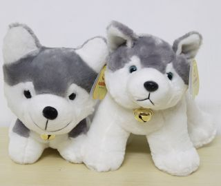 Husky Pet Dog 22CM Plush Toy Siberian Douglas Stuffed Animal 2x Teddy