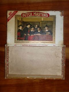 VERY RARE Dutch Masters Wood Wooden Cigar Box Perfectos Claro Label PA