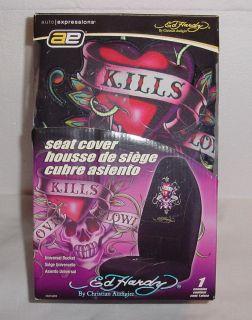 Ed Hardy by Christian Audigier Universal Bucket Seat Cover Love Kills