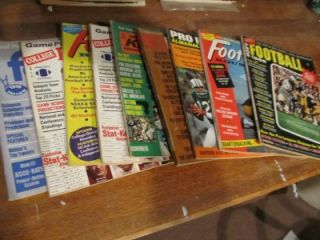 College & Pro Football NFL Preview books 1960s 1970s Stats
