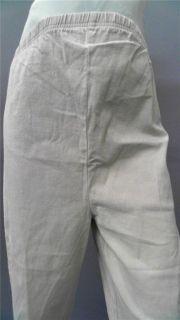 In Due Time Maternity Misses M Stretch Capri Pants Khaki Beige Solid