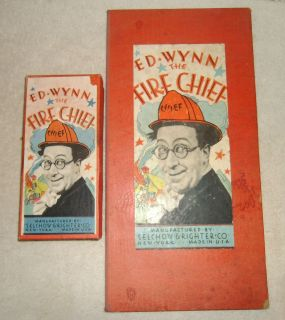 1937 Ed Wynn the Fire Chief Board Game by Selchow Righter Co Very Rare