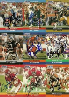 1990 NFL Pro Set Eddie Anderson Signed Card Raiders ft Valley St Auto
