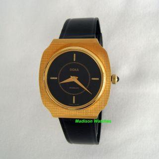 New Doxa Mens Watch Art Deco Black Dial Watch