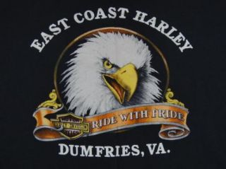 Coast Harley Davidson Pocket T Shirt Eagle Dumfries Virginia L