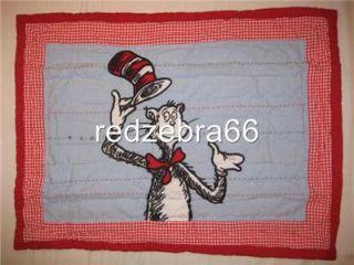 Dr Seuss Cat in The Hat Twin Quilt Standard Sham Sheet Set 5P
