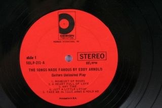 Title The Eddy Arnold Songbook / The Songs Made Famous By Eddy Arnold