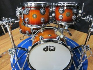 DW DRUMS JAZZ SERIES IN TOBACCO BURST LACQUER BRAND NEW KIT IN BOX