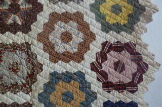 Vintage Grandmothers Flower Garden Quilt Handmade