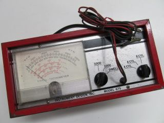 VINTAGE TACH DWELL METER INSTRUMENT DESIGN MODEL 675 REDUCED PRICE TO
