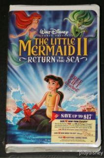 The Little Mermaid II Return to The Sea CD VHS New SEALED