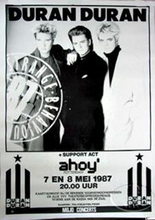 Duran Duran 1987 Strange Behaviour Tour Concert Poster