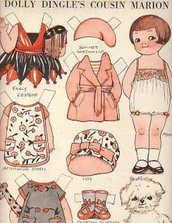 1929 Dolly Dingle PAPERDOLL Her Cousin Marion Drayton