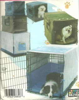 UC FF Sewing Pattern SIMPLICITY 4713 DOG PET CRATE COVERS