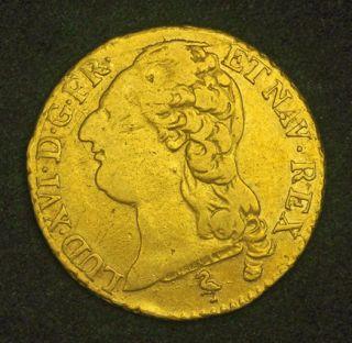 1786, Royal France, Louis XVI. Heavy Gold Louis (Louis d´or) Coin. 7