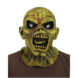 Iron Maiden Piece of Mind Eddie Latex Costume Horror Halloween Mask