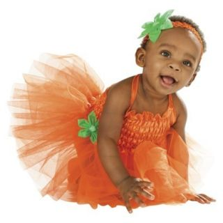 NWT COSTUME DRESS UP HALLOWEEN PARTY INFANT PUMPKIN TUTU COSTUME SZ 6