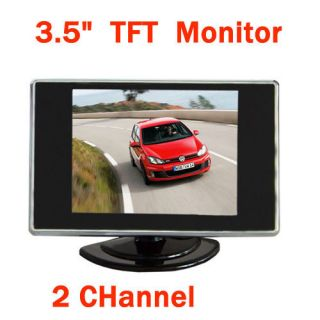 TFT LCD Color Car Rear View Monitor DVD VCR 2CH for Reverse