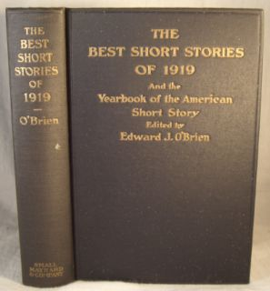 yearbook of the american short story author edward j o brien publisher