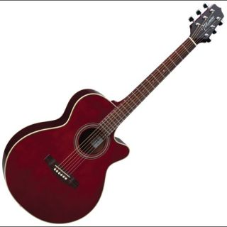 Takamine G Series FXC G260C WR Wine Red Acoustic Cutaway Guitar