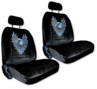 SEAT COVERS CAR TRUCK SUV BALD EAGLE DREAMCATCHER LOW BACK pp #3