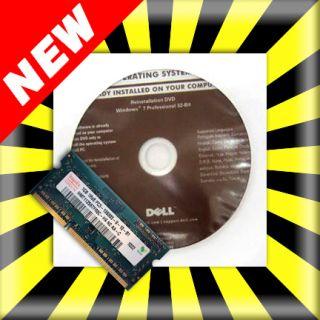 Dell Windows 7 Professional 32bit DVD PC Laptop 1GB RAM