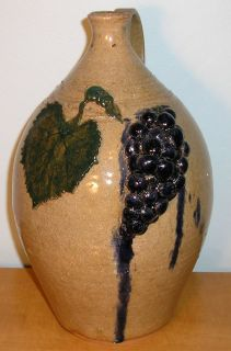Dwayne Craig Grape Jug catawba valley southern folk pottery burlon