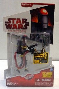 Clone Wars Firefighter Droid Action Figure 3 3 4 CW47 Battle Fire