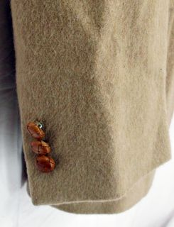 Mens Egon Von Furstenberg Italy Camel Tan Wool Sports Coat Blazer Sz